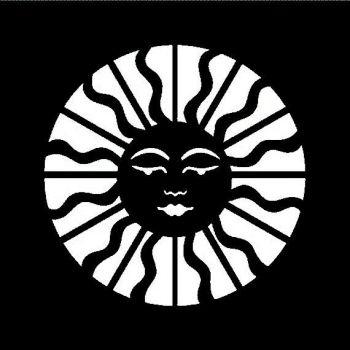 "Celestial Sun - 6"" x 6"" stencil"