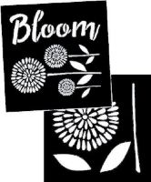 "Garden Blooms Stencil - set of 2: each 8"" x 8"""