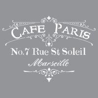 "cafe Paris 12"" x 12"""