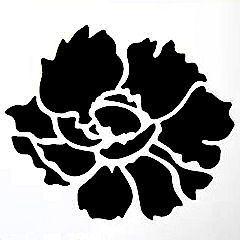 "Rose 6"" x 6"" stencil"