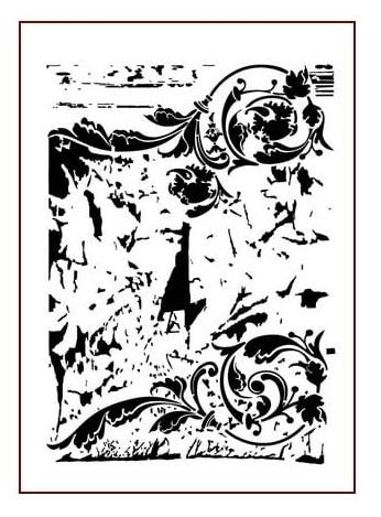 Vintage Swirl - A4 Stencil