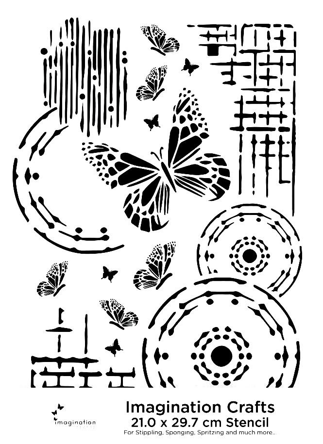 Butterfly A4 stencil