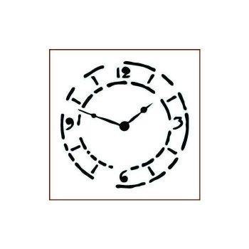 """grungy clock 6"""" x 6"""""""