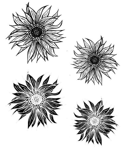 Sunflower:  Set of 4