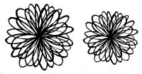 "Doodle flower pair - 4"" and 3"""