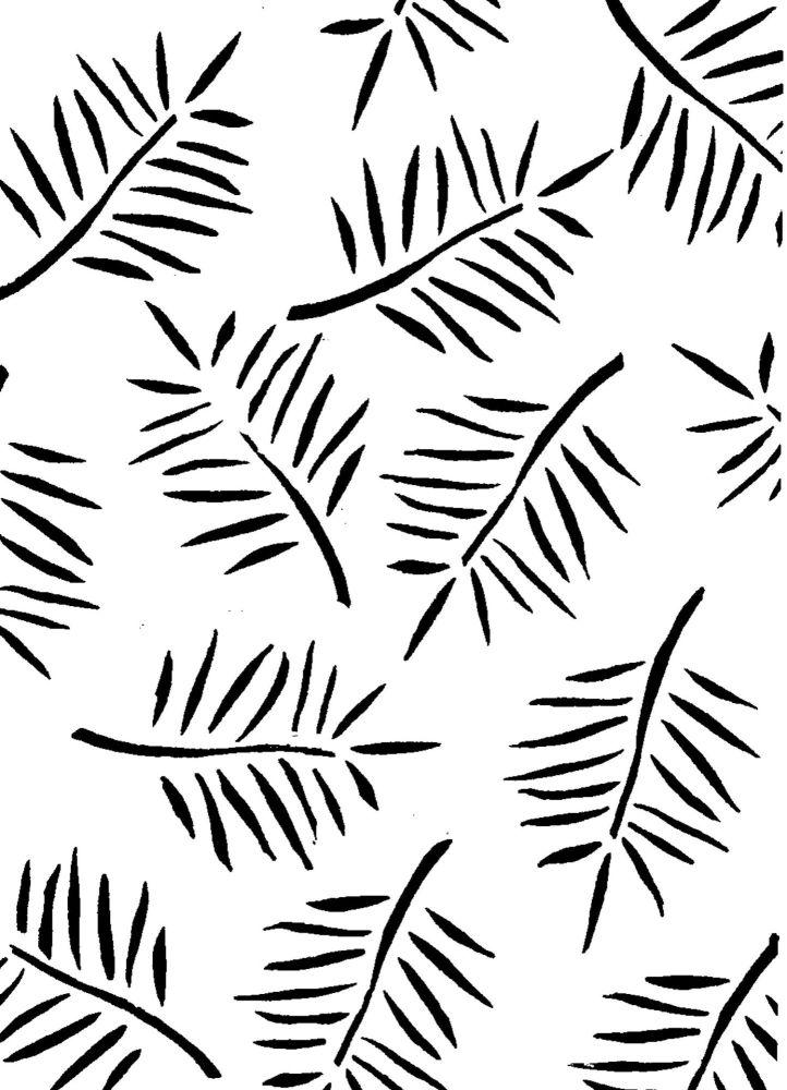 Fern Pattern A4