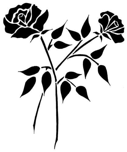 Double Rose Spray A4