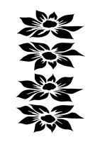 Dahlia 4 blooms A4
