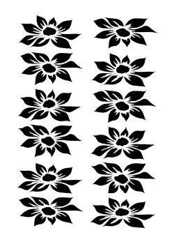 Dahlia 12 blooms portrait A4