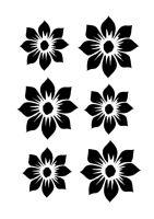 Dahlia full blooms 6 A4