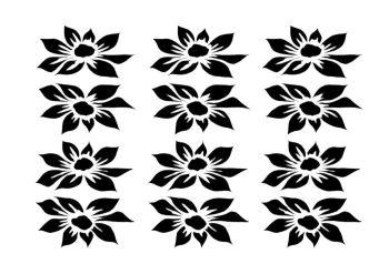 Dahlia 12 blooms landscape A5