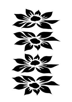 Dahlia 4 blooms A5