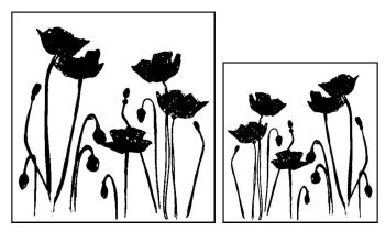 """Poppies pair: 5"""" and 4"""""""
