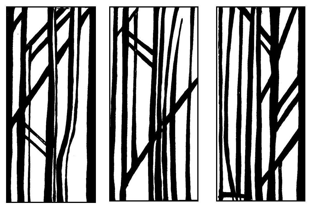 Retro Trees set of 3: 4