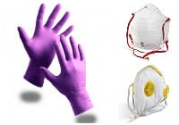 Protection - Barrier cream, gloves and masks