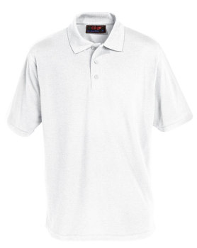 White polo shirt (embroidered)