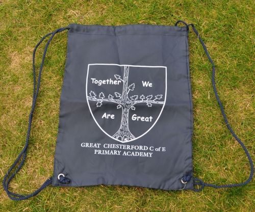 KS1 Navy drawstring gym bag (printed)