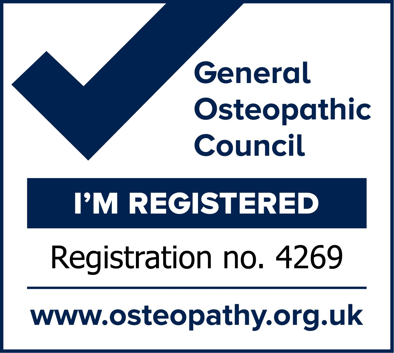 Darren Chandler, Osetopath is a registered member of the General Osteopathic Council