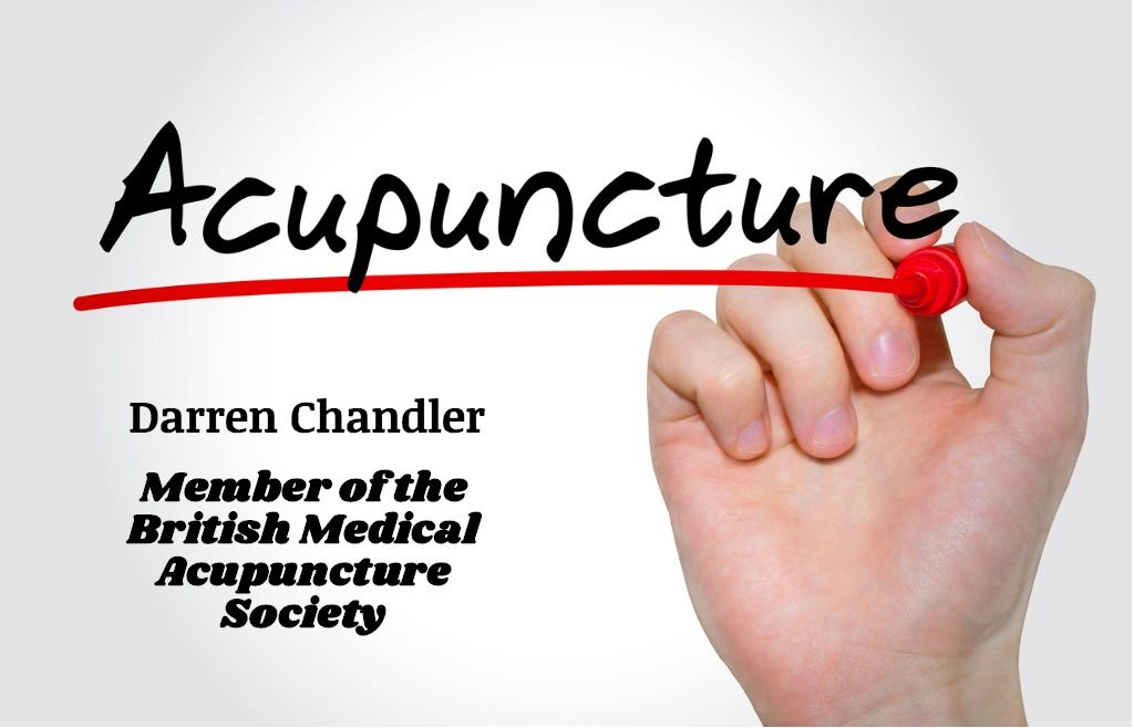 Darren Chandler, Osetopath is a registered member of the British Medical Acupuncture Society