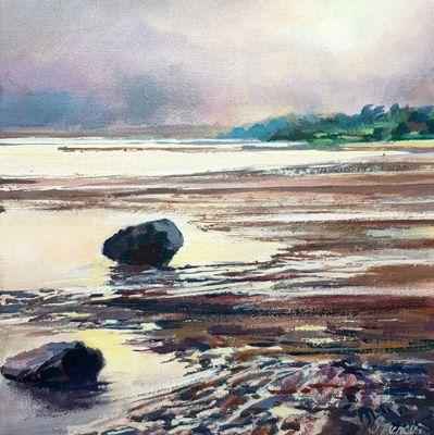 low tide Foxton