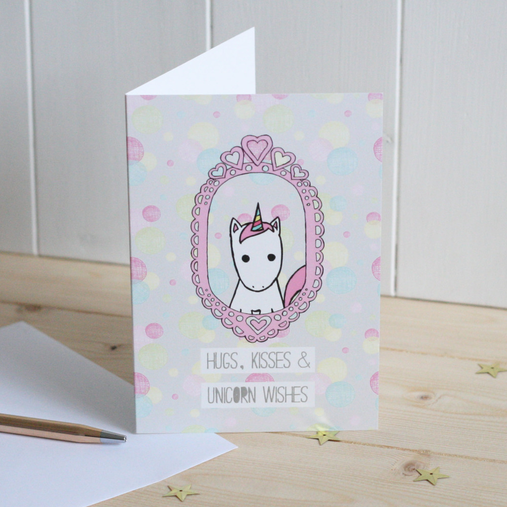 Unicorn Wishes Greetings Card