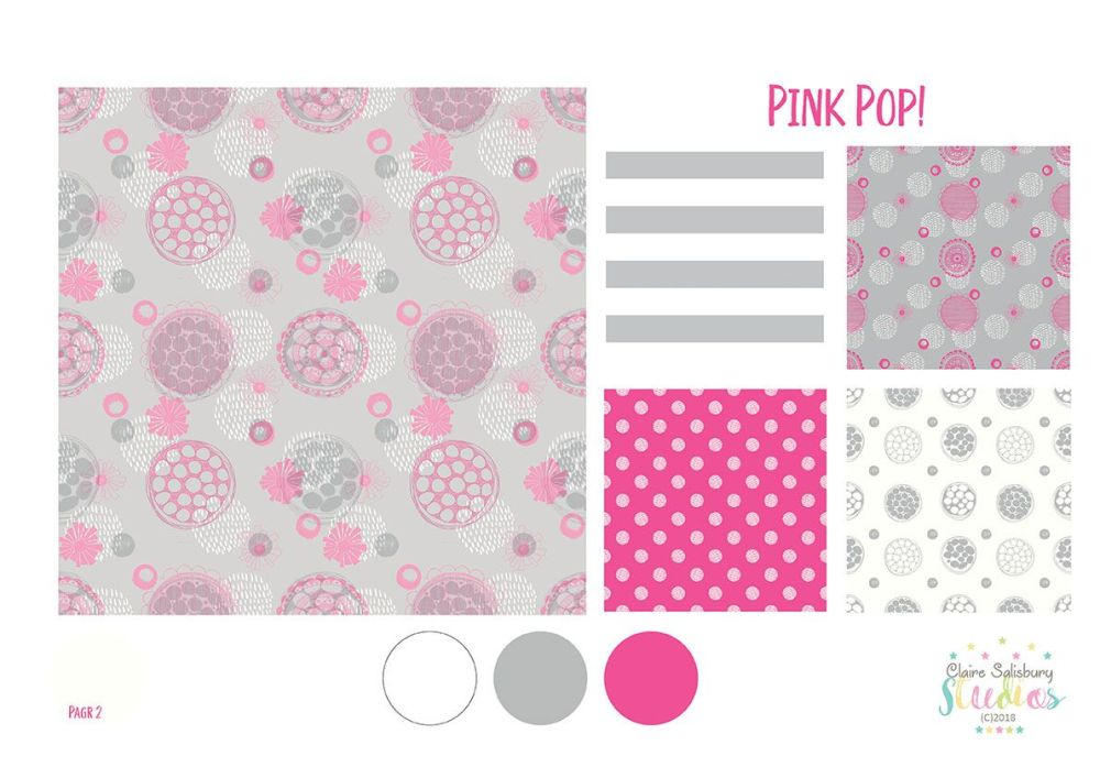 PINK POP! SURFACE PATTERN PRESENTATION SHEET PAGE 2