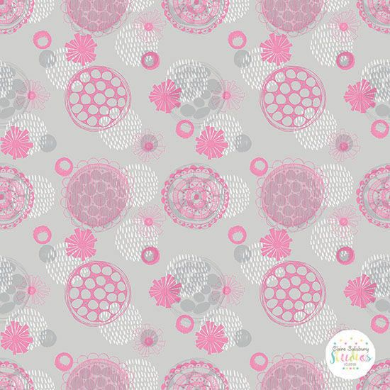 HOT PINK, GREY and WHITE LAYERED PATTERN - PINK POP - CGOCT18 - PP