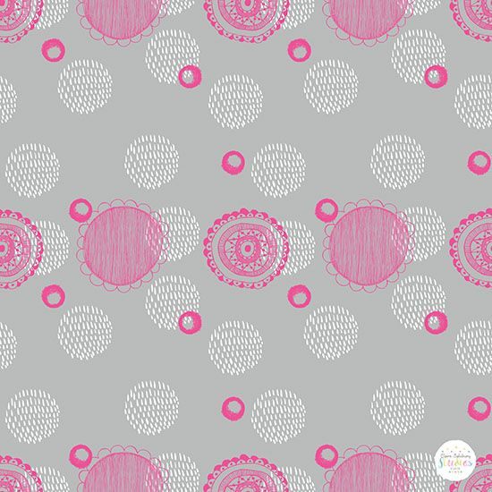 HOT PINK AND WHITE ON GREY BACKGROUND BASIC - PINK POP - OCT2018 - PP