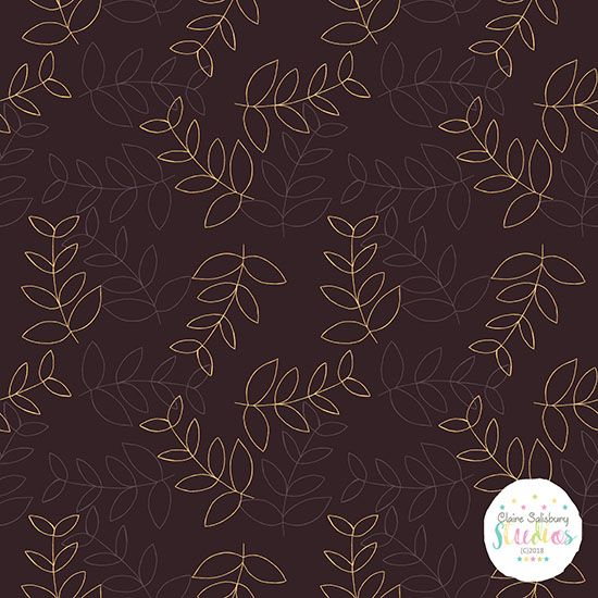 SKETCHED LEAVES - LARGER SCALE - AUTUMN CRUSH COLLECTION - WMD - OCT2018 55