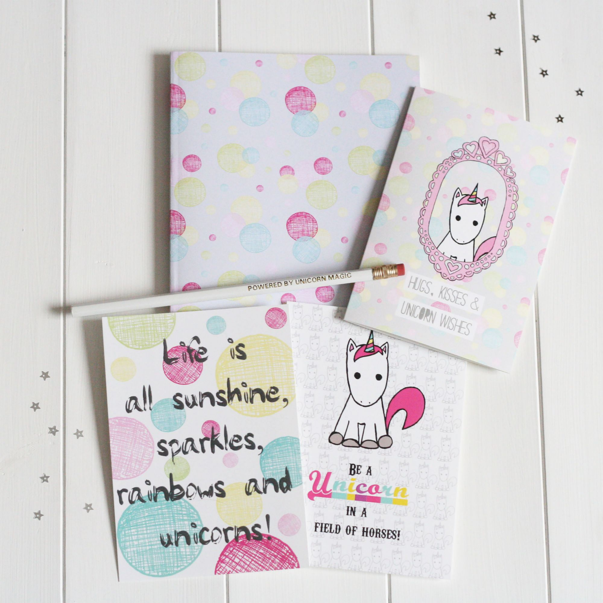 UNICORN STATIONERY GIFT SET BY CLAIRE SALISBURY STUDIOS