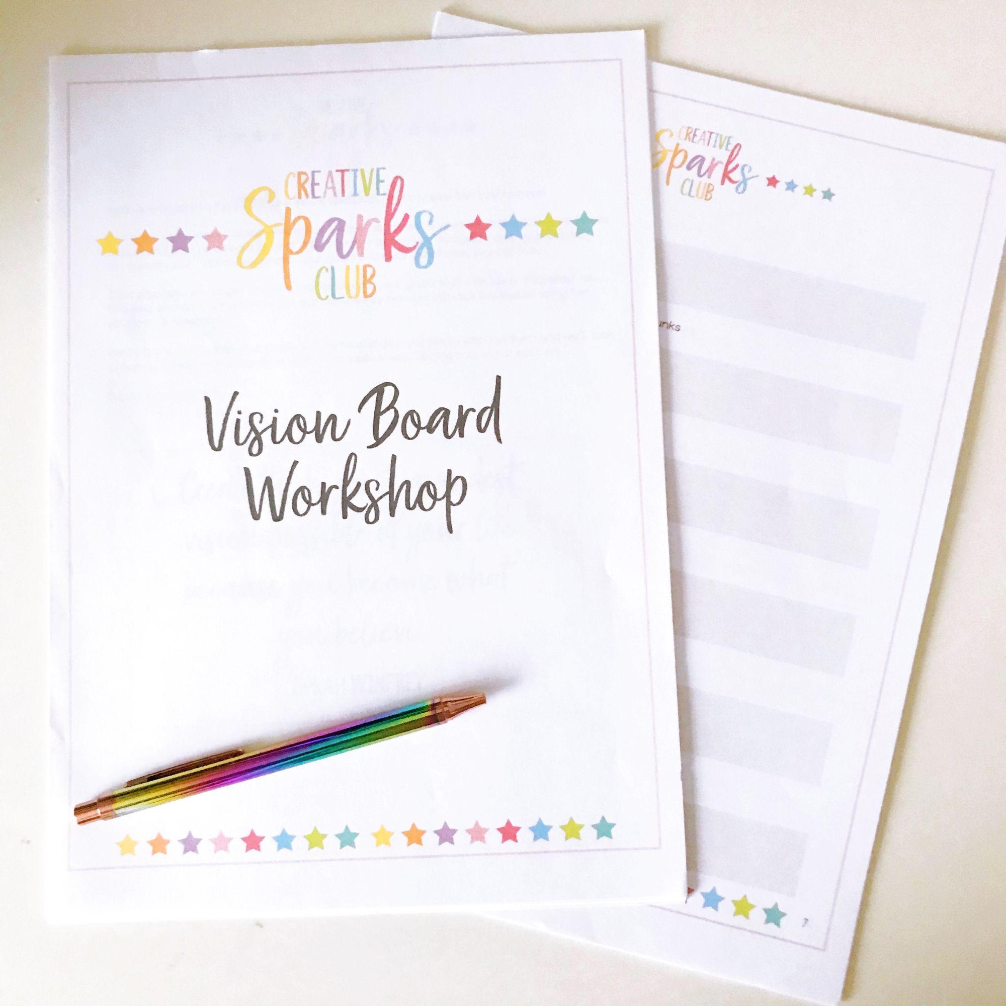 Vision Board Workshop Workbook