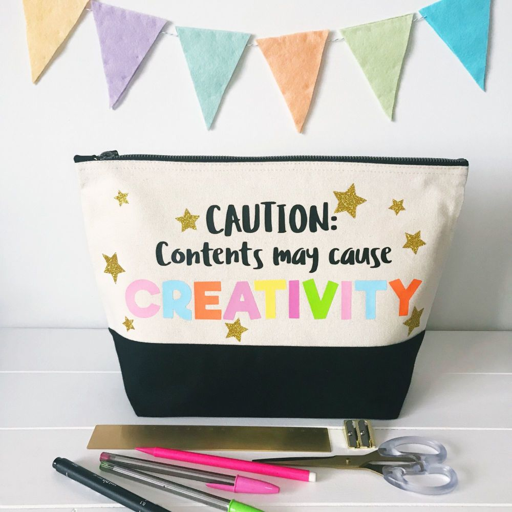 PREORDER - Large Project Bag - Caution: Contents May Cause Creativity