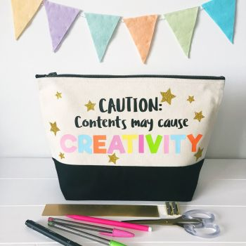 Large Project Bag - Caution: Contents May Cause Creativity