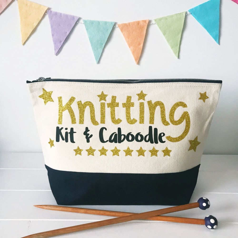 PREORDER - Large Project Bag - Knitting Kit & Caboodle