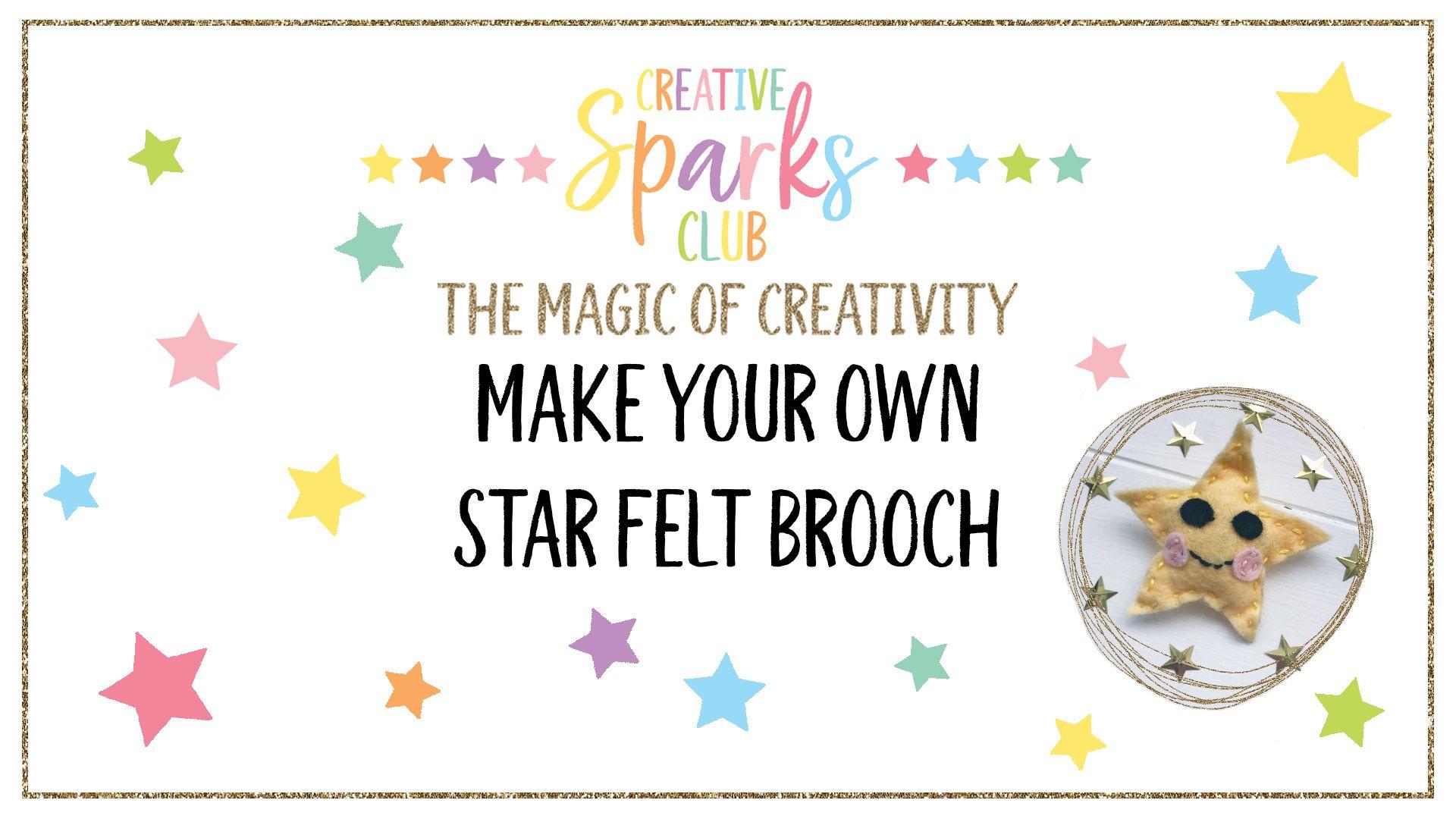 MAKE YOUR OWN STAR FELT BROOCH