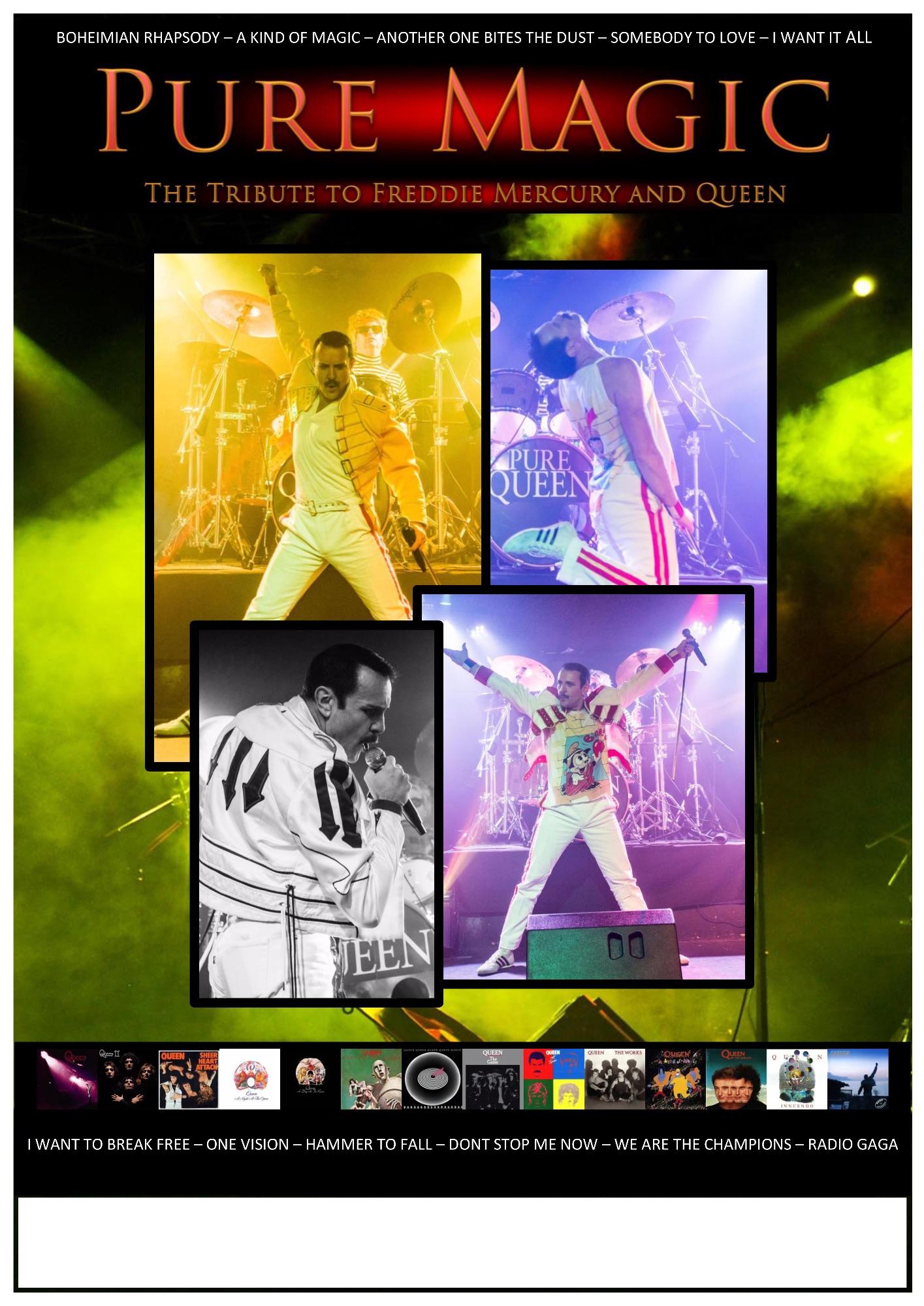 Pure Magic Queen & Freddie Mercury Tribute Show Poster