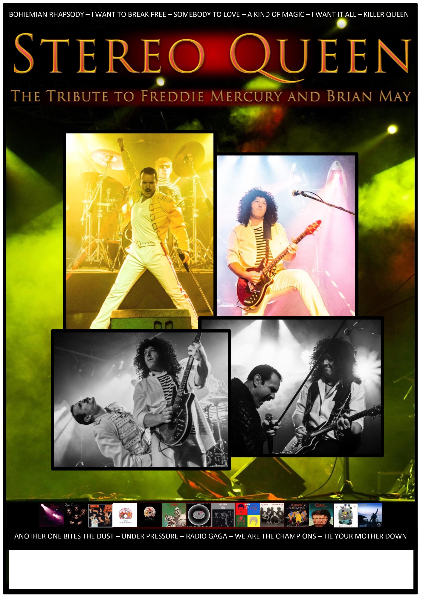 Stereo Queen Freddie Mercury & Brian May Tribute Show Poster