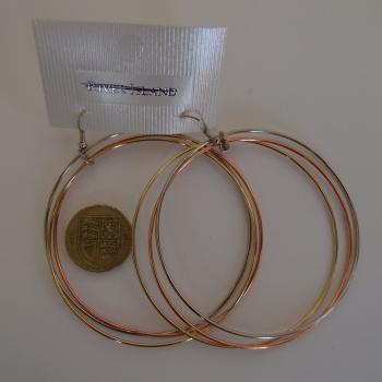 EX River Island LARGE 7cm HOOP earrings