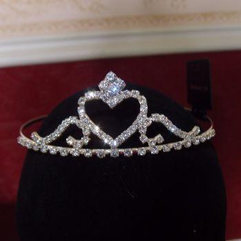 Sparkling clear faux diamond tiara