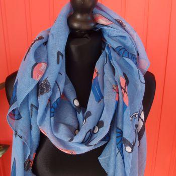 Blue LONDON scarf