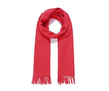 Bright red pashmina scarf
