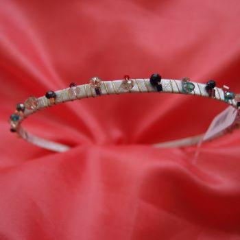 Beige beaded headband
