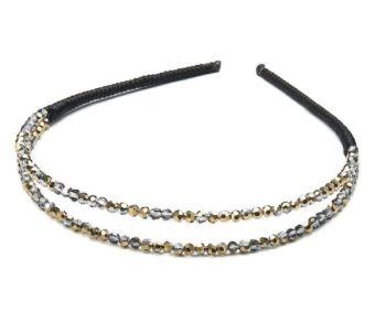 Dazzling double-row headband