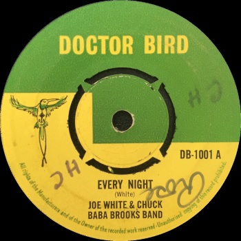 "Joe White & Chuck Baba Brooks Band - ""Every Night"" b/w Baba Brooks And His Band ""First Session"""
