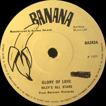 "Riley's All Stars - ""Glory Of Love"" b/w ""We'll Cry Together (Version)"""