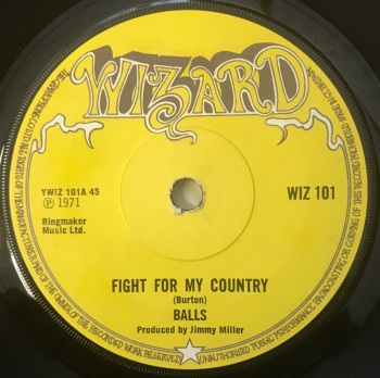 "Balls - ""Fight For my Country"" b/w ""Janie Slow Down"""