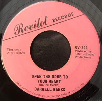 "Darrell Banks - ""Open The Door To Your Heart"" b/w ""Our Love (Is In The Pocket)"""