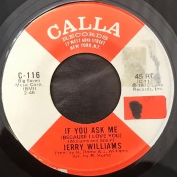 "Jerry Williams - ""If You Ask Me (Because I Love You)"" b/w ""Yvonne"""