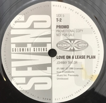 "Johnny Taylor - ""Love On A Lease Plan"" b/w LV Johnson - ""Got To Get Rid Of You"""