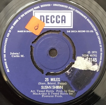"Susan Shifrin - ""To Love"" b/w ""25 Miles"""